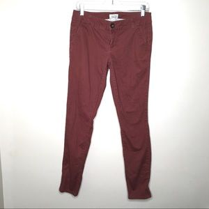 4/$25 Mollie Skinny Khakis Distressed Red Pants